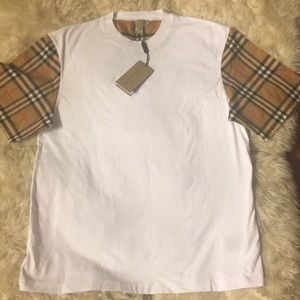 Serra vintage check sleeves tee